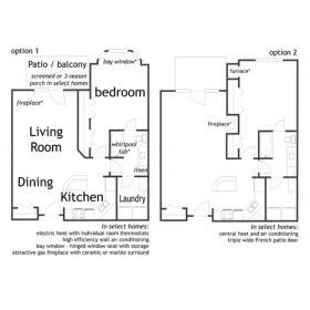 1-bedroom ranch apartment - Andover