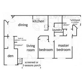 2 Bedroom 2 bath apartment in Madison - Essex Den