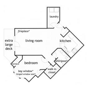 1- Bedroom Ranch Style Apartment - The Kirkwood